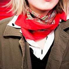 Red Scarf Street Style
