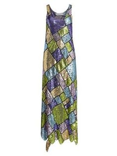 Prabal Gurung Sleeveless Sequin Patchwork Midi Dress In Multi Prabal Gurung, Hemline, Sequins, Shopping, Clothes, Collection, Dresses, Style, Fashion