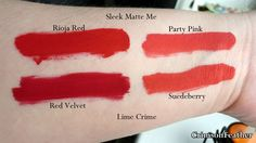 sleek cosmetics, matte me in party pink - dupe for limecrime's velvetine in suedeberry