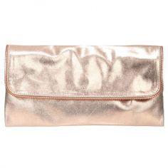 Pochette en cuir couleur cuivre Naterra - Le dressing Mode de Captendance