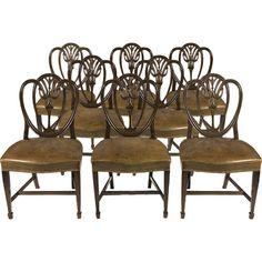 Hepplewhite Dining Furniture Pulls | Hepplewhite Furniture on Dibs Dining Chairs In The Hepplewhite Manner ...