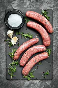 At the Meat Market: Cuts of Pork Cuts of Pork: Sausage is ground from other parts of the pig left from cutting pork roasts, chops, and loin. Sausage Recipes, Meat Recipes, Game Recipes, Food Styling, Styling Tips, Pork Meat, Pork Sausages, Meat Shop, Meat Markets
