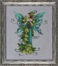 """""""Fairie Summer Love"""" is the title of this cross stitch pattern from Nora Corbett of Mirabilia. Click on highlighted links to order the 32 C..."""
