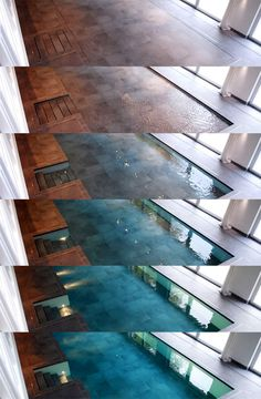 Hydro floors: the floor sinks and a pool appears