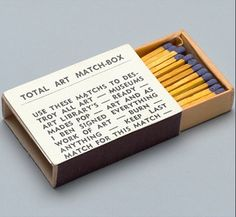 "BenVautier ""Total Art Match-Box"" 1965"