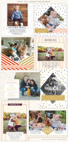 Booking fall mini sessions   Photoshop templates for photographers by Birdesign