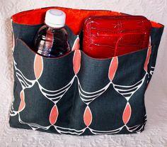 Bag Organizer Insert Large Handbag Insert by UniqueSewingBoutique Larger size organizer insert, carry water bottle, umbrella etc