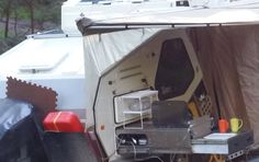 Fast setup awning for TVAN Mark 11 and 111 - Caravan Ideas Caravan Awnings, Recreational Vehicles, Places To Visit, Caravan Ideas, Caravan Porch Awnings, Camper, Campers, Single Wide