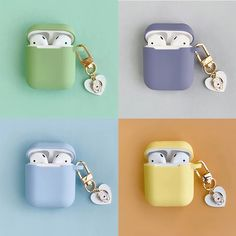 Cute Dog Cartoon Silicone Case for Apple Airpods Accessories Bluetooth Earphone Case Box Candy Color Bag Decor Cover Key Ring Wireless Headphones, Bluetooth, Cute Dog Cartoon, Aesthetic Phone Case, Samsung, Earphone Case, Kawaii Accessories, Airpod Case, Candy Colors