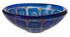 Sven Palmqvist 'ravenna' glass bowl, Orrefors, 1964