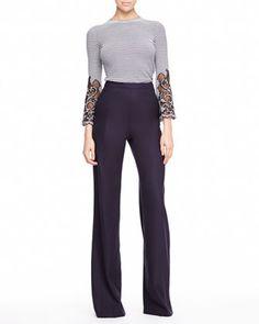 Carolina Herrera cutout top and wool pants