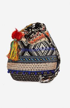 Stela 9 Ganesha Bucket Bag in Burgundy | DAILYLOOK