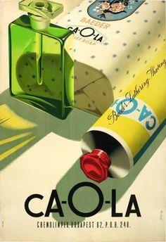Caola kozmetikai termékek retro plakát