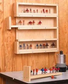 31-DP-00769 - Easy-Access Router-Bit Storage Downloadable Woodworking Plan PDF