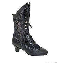 Victorian Steampunk Vintage Granny Boots