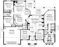 The Toscana home plan is a luxurious Mediterranean home design. The home plan has 2331 square feet of living area with three bedrooms and two bathrooms. Mediterranean House Plans, Mediterranean Design, Mediterranean Bedroom, Custom Home Plans, Custom Homes, Estilo Florida, Art Niche, Ikea, Luxury House Plans