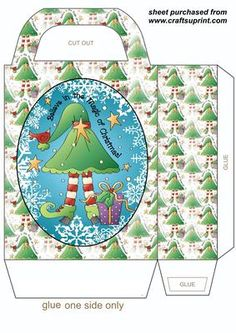 Believe in the magic of Christmas gift bag on Craftsuprint designed by Stephen Poore -