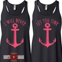 Best Friends Shirt Tanks Tank Tops Nautical by ShirtsBySarah