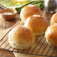 Herbed Dinner Rolls Recipe -After I had my sixth child, a friend dropped off dinner, including these rolls, which start in a bread machine. They were so delicious that I quickly bought my own machine so I could make them myself. —Dana Lowry, Hickory, North Carolina