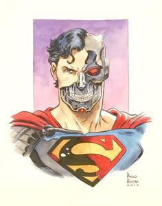 Cyborg Superman , in R M's Collection Comic Art Gallery Room Superman Comic, Batman, Comic Art, Comic Books, Superman Wallpaper, Dc Heroes, Supergirl, Apocalypse, Marvel Comics