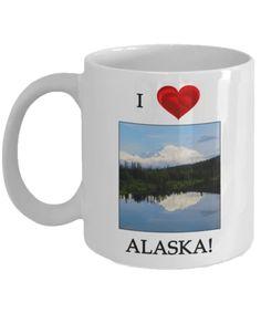 I Love Alaska Denali Mug, Alaska Gift Mug – Aunt Phil's Trunk