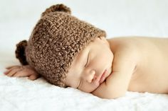My future Liam has a little hat similar to this for his newborn pictures!  So sweet!