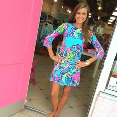 Lilly Pulitzer Bellavista Dress Private Island  Pink Bee Greenville, South Carolina