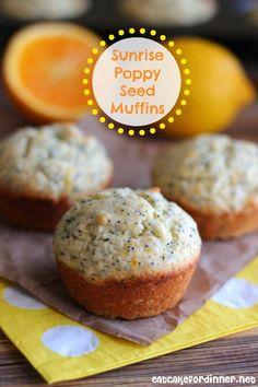 Eat Cake For Dinner: Sunrise Poppy Seed Muffins with Orange Glaze