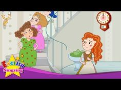 Cinderella - What time is it? (Asking the Time) - Popular English story for Kids - YouTube