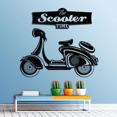 Scooter vinil autocolante de parede