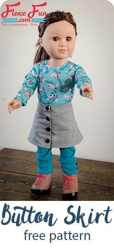 I love this free sewing pattern for an 18 inch doll. This is such a cute skirt tutorial for my little one's American Girl Doll!