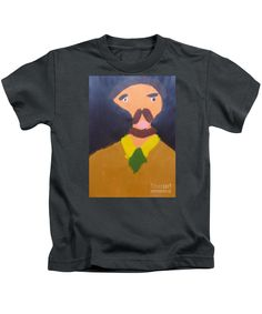 Purchase a Patrick Francis Designer juvenile Charcoal t-shirt featuring the image of Portrait Of Eugene Boch - After Vincent Van Gogh by Patrick Francis.  Available in sizes 2T - 4T.  Each juvenile t-shirt is printed on-demand, ships within 1 - 2 business days, and comes with a 30-day money-back guarantee.