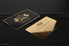 May 2018 - Luxury Gold Metal Business Card - Grandeur Lawyer Business Card, Business Cards Online, Metal Business Cards, Professional Business Card Design, Luxury Business Cards, Letterpress Business Cards, Black Business Card, Unique Business Cards, Business Card Logo