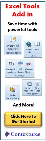 Contextures Excel Tips, Excel Tutorials and Excel Examples