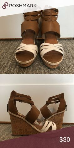 Dolce Vita Wedges two tones leather tan wedges DV by Dolce Vita Shoes Wedges