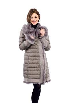 Cappotto piumino e montone- Feather and shearling coat