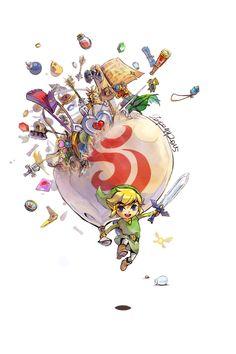 The Legend of Zelda: The Wind Waker, Toon Link / 「Wind Waker」/「zzyzzyy」のイラスト…