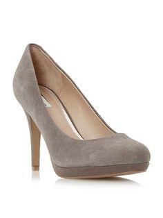 Grey suede pumps
