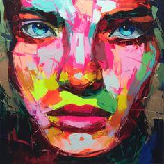 Françoise Nielly #art #neon #oil