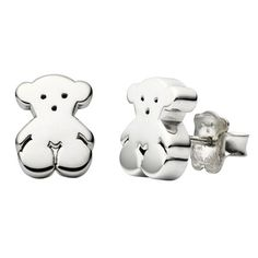 TOUS Bear studs. Cant justify spending that much on tiny silver studs personally, but so cute.  -   Cuestan demasiado para ser unos pendientes de plata, aunque muy bonitos.