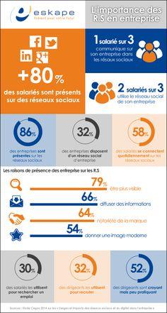 infographie : Importance des Réseaux Sociaux en Entreprise