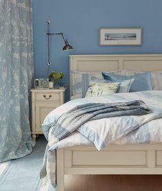 Find sophisticated detail in every Laura Ashley collection - home furnishings, children's room decor, and women, girls & men's fashion. Furniture, Home Furnishings, Blue Rooms, Home, Home Bedroom, Bedroom Inspirations, Laura Ashley Bedroom, Bedroom, Bedroom Styles
