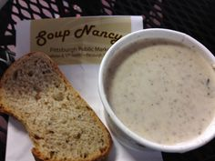 Cream of Brie Soup from Soup Nancys...haha cream of brie?? Here I come