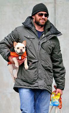 Celebs and Their Dogs - Hugh Jackman & Peaches