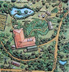 Bill Mollison, Homestead Layout, Permaculture Design Course, Permaculture Garden, Farm Layout, Farm Plans, Design Jardin, Greenhouse Plans, Mini Farm