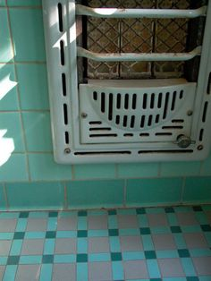 Vintage Bathroom Tile And Heater We Had One Like This In Our When I