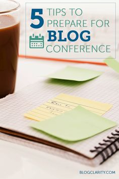 Besides packing, here are five tips to prepare for a blog conference so it's not only fun, but productive!