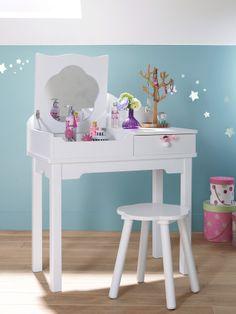 Tocador para ni a tema princesa habitaci n beb for Silla escritorio nina