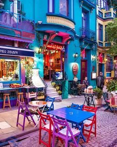 I found a rainbow city! It reminds me of some of my pillow designs ❤️ Lol ❤️💜💛💙💙💖🧡 Thx for this pic of Istanbul, Turkey Places To Travel, Places To Visit, Rainbow City, Turkey Photos, Istanbul Travel, Colourful Buildings, Turkey Travel, Travel Abroad, Architecture