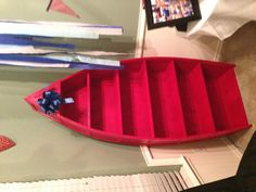 Boat bookshelf for nautical themed nursery... Made with love my James